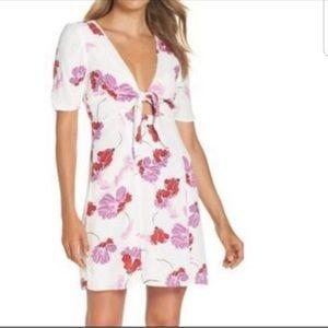 Nordstrom Bardot Stencil Flower Knot Front Dress
